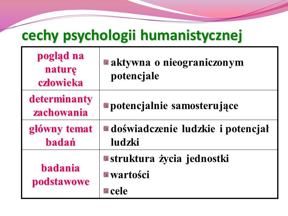 cechy psychologii humanistycznej