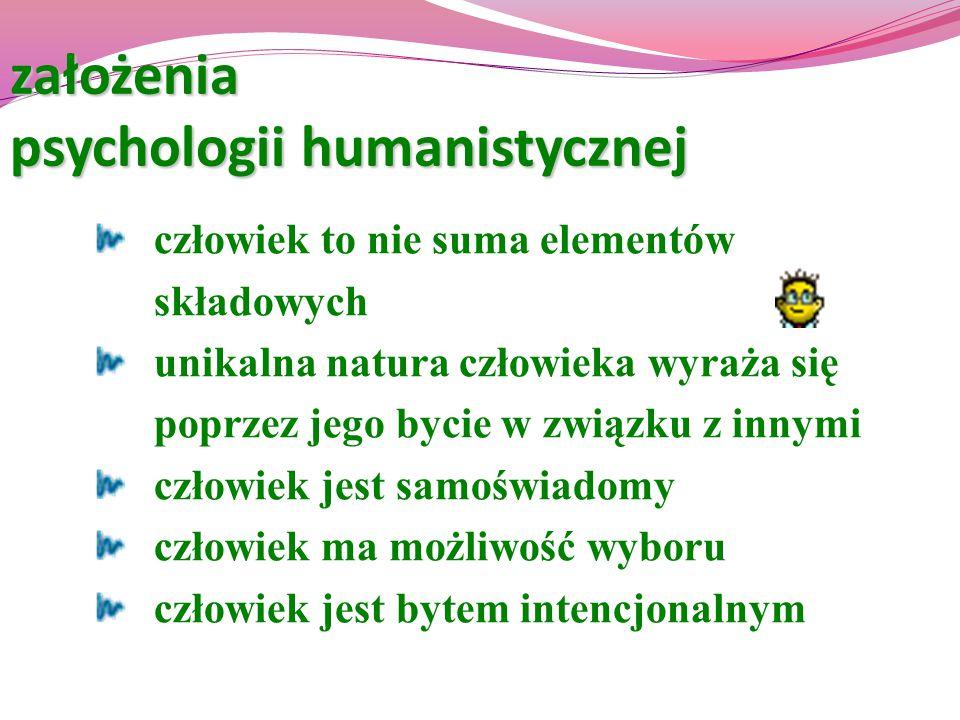 założenia psychologii humanistycznej