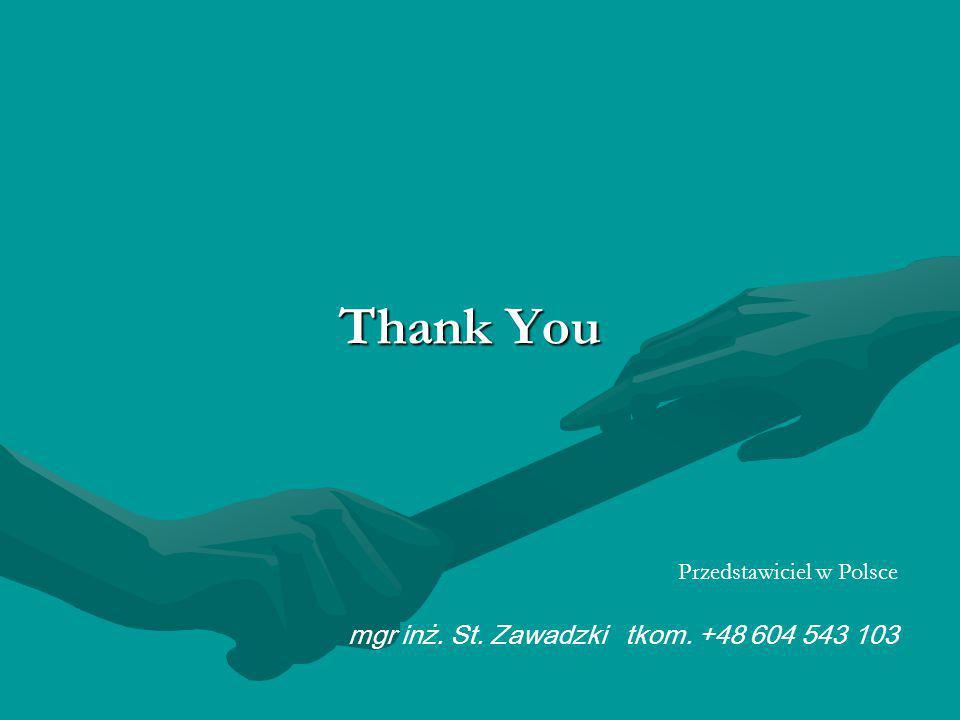 Thank You mgr inż. St. Zawadzki tkom. +48 604 543 103