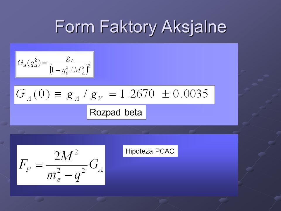 Form Faktory Aksjalne Rozpad beta Hipoteza PCAC