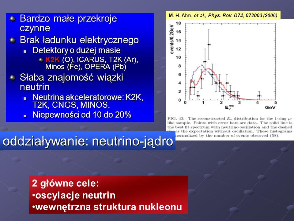 oddziaływanie: neutrino-jądro