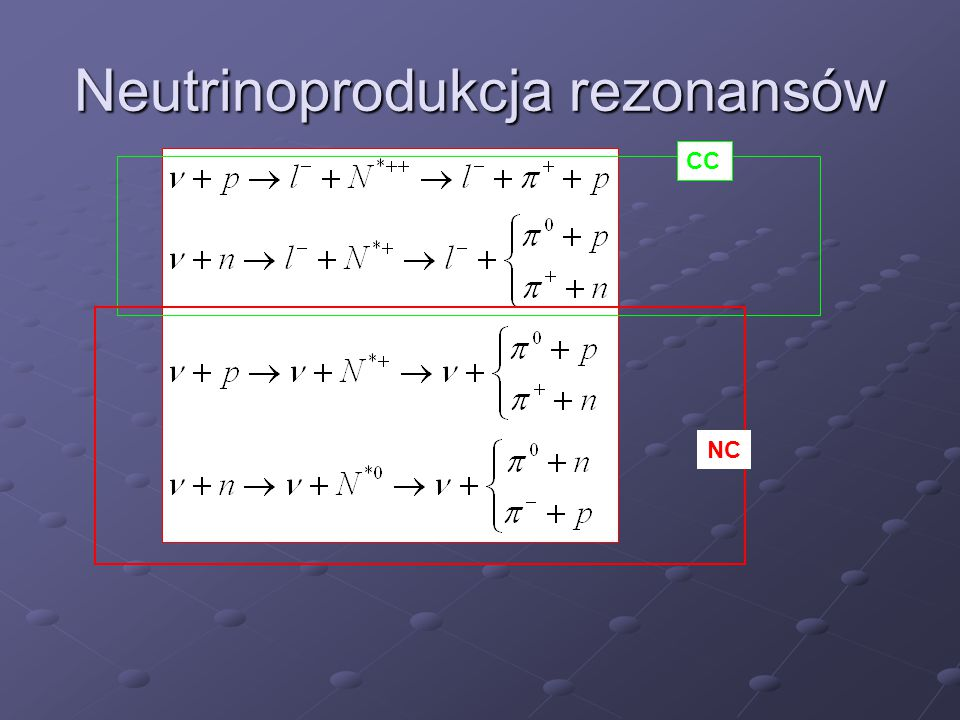 Neutrinoprodukcja rezonansów