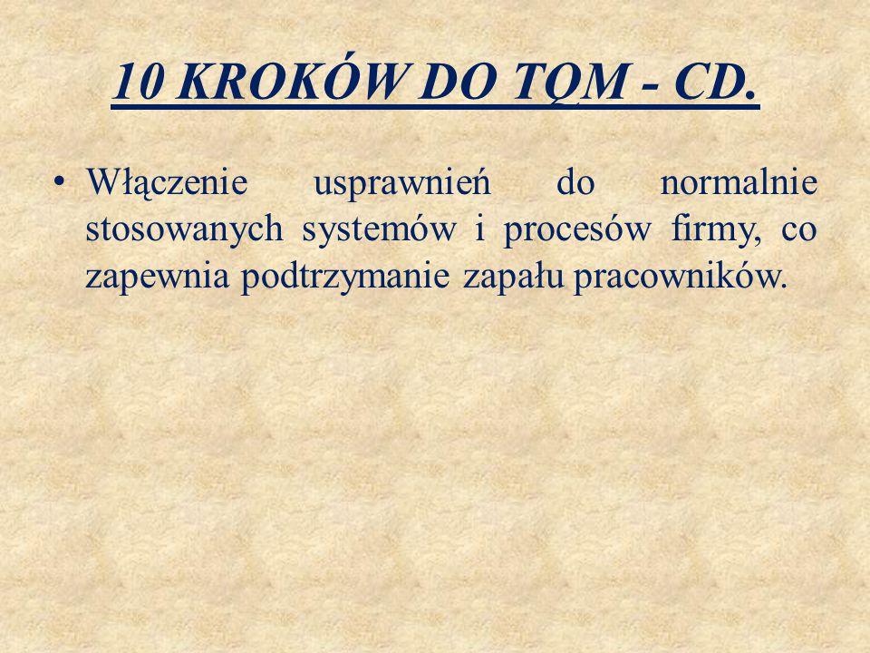 10 KROKÓW DO TQM - CD.