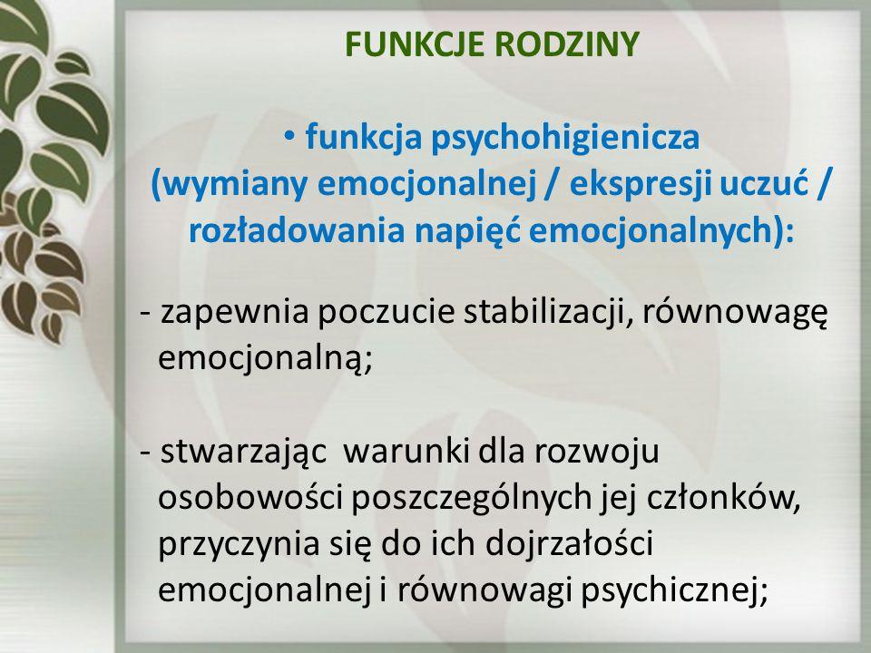 funkcja psychohigienicza