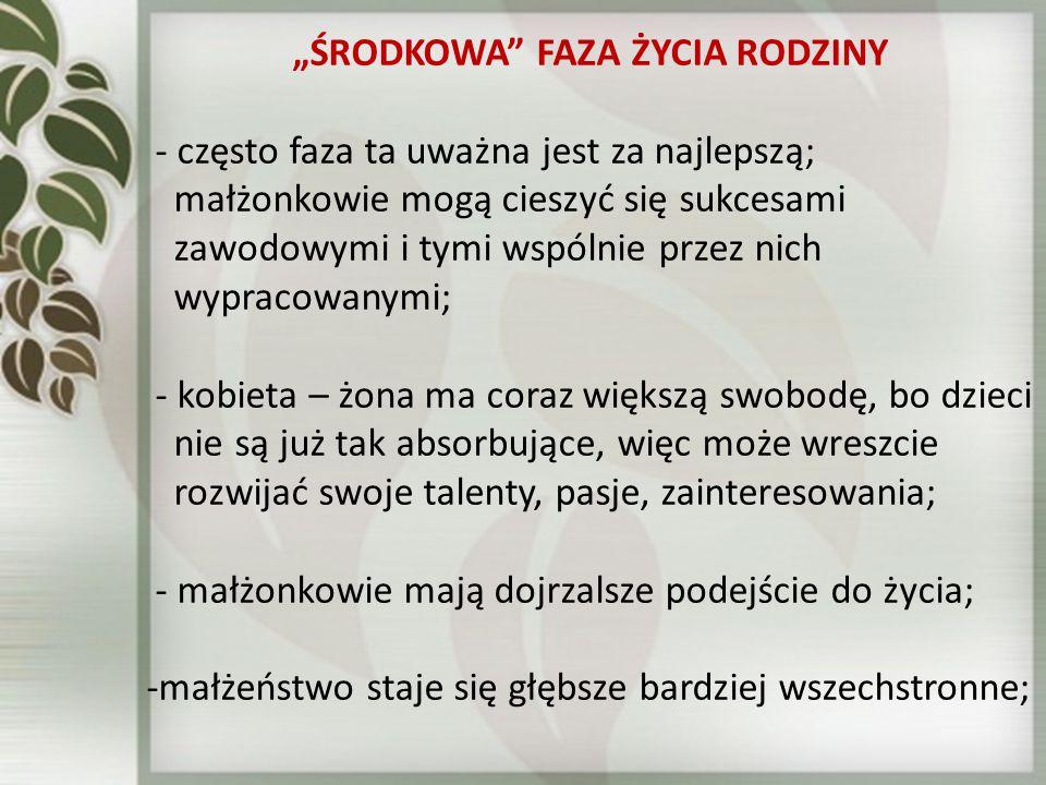 """""""ŚRODKOWA FAZA ŻYCIA RODZINY"""