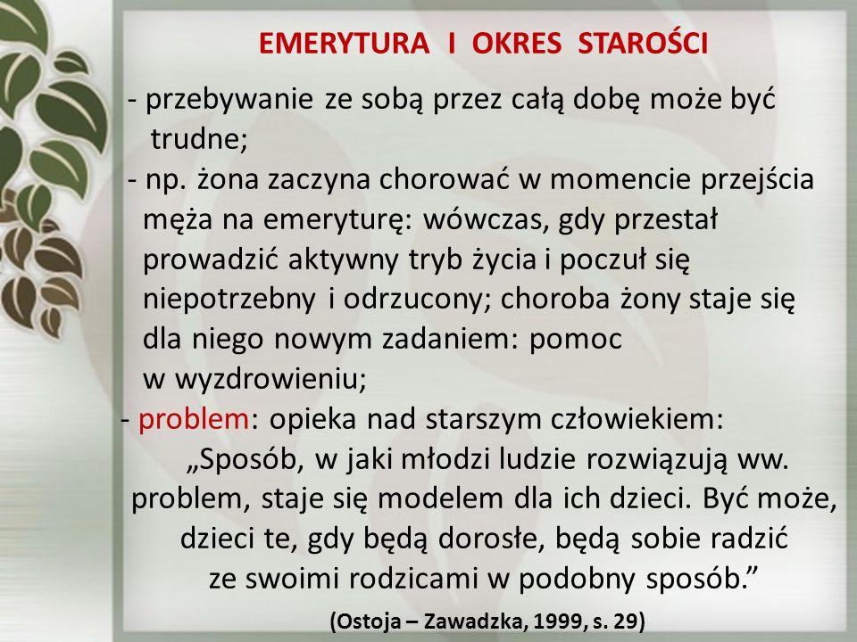 EMERYTURA I OKRES STAROŚCI