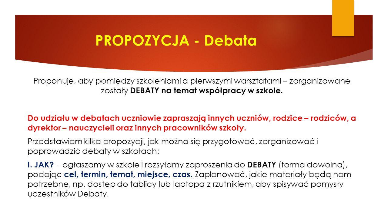 PROPOZYCJA - Debata