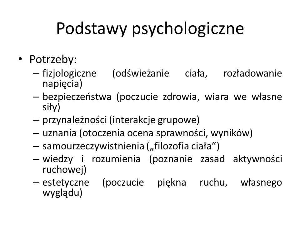 Podstawy psychologiczne