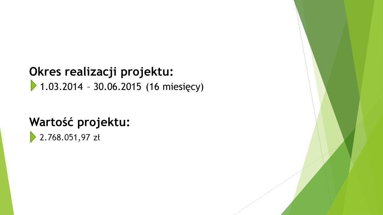 Okres realizacji projektu: 1. 03. 2014 – 30. 06