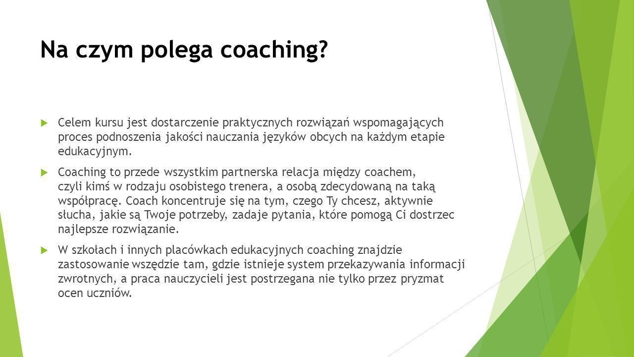 Na czym polega coaching