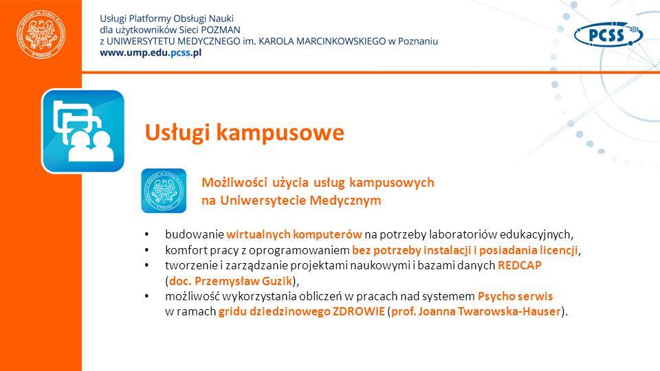 Usługi kampusowe Możliwości użycia usług kampusowych na Uniwersytecie Medycznym.