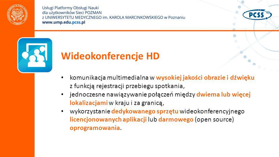 Wideokonferencje HD komunikacja multimedialna w wysokiej jakości obrazie i dźwięku z funkcją rejestracji przebiegu spotkania,