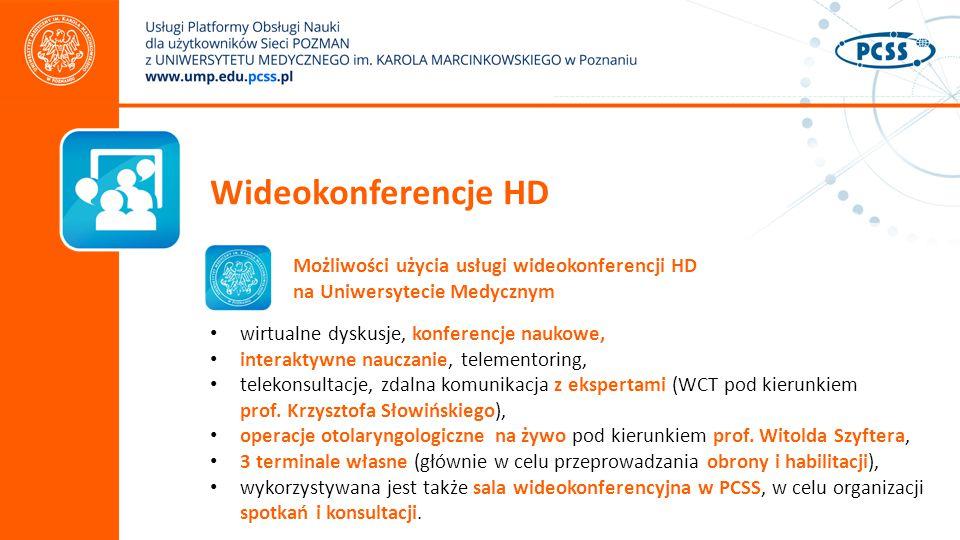 Wideokonferencje HD Możliwości użycia usługi wideokonferencji HD na Uniwersytecie Medycznym. wirtualne dyskusje, konferencje naukowe,