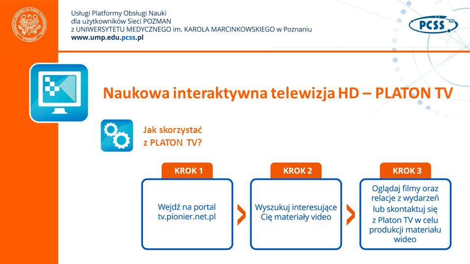 Naukowa interaktywna telewizja HD – PLATON TV