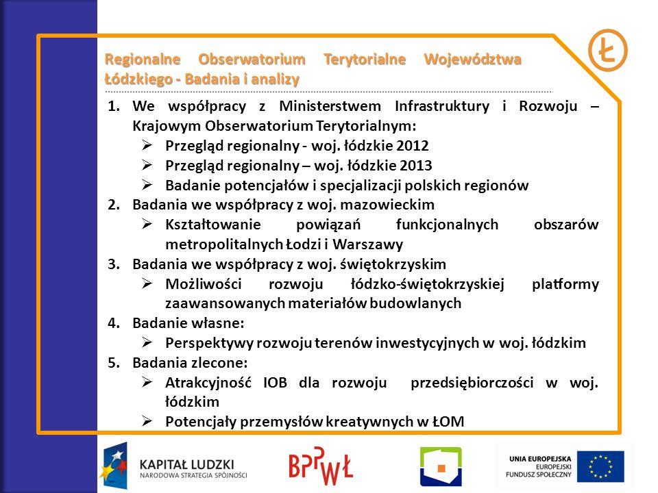 Regionalne Obserwatorium Terytorialne Województwa Łódzkiego - Badania i analizy