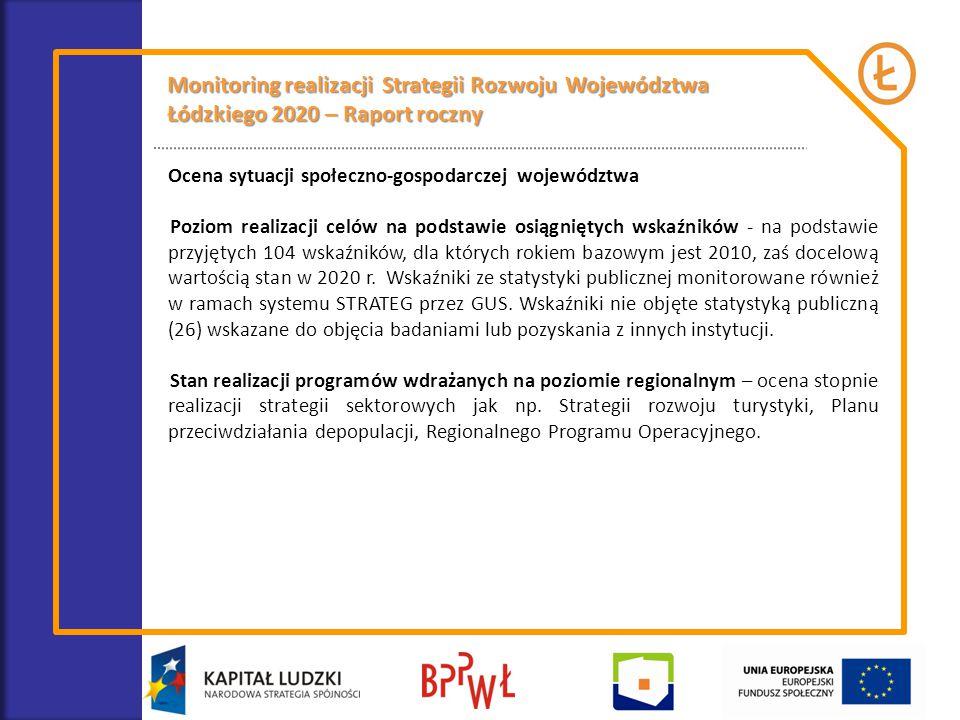 Monitoring realizacji Strategii Rozwoju Województwa Łódzkiego 2020 – Raport roczny