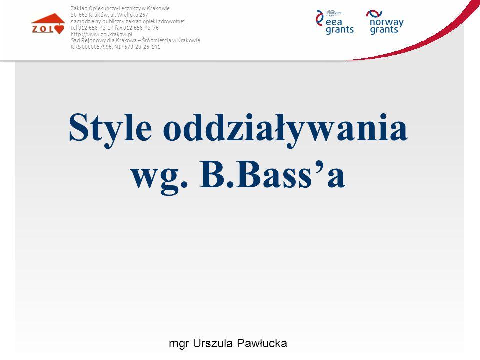 Style oddziaływania wg. B.Bass'a