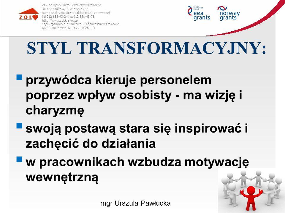 STYL TRANSFORMACYJNY: