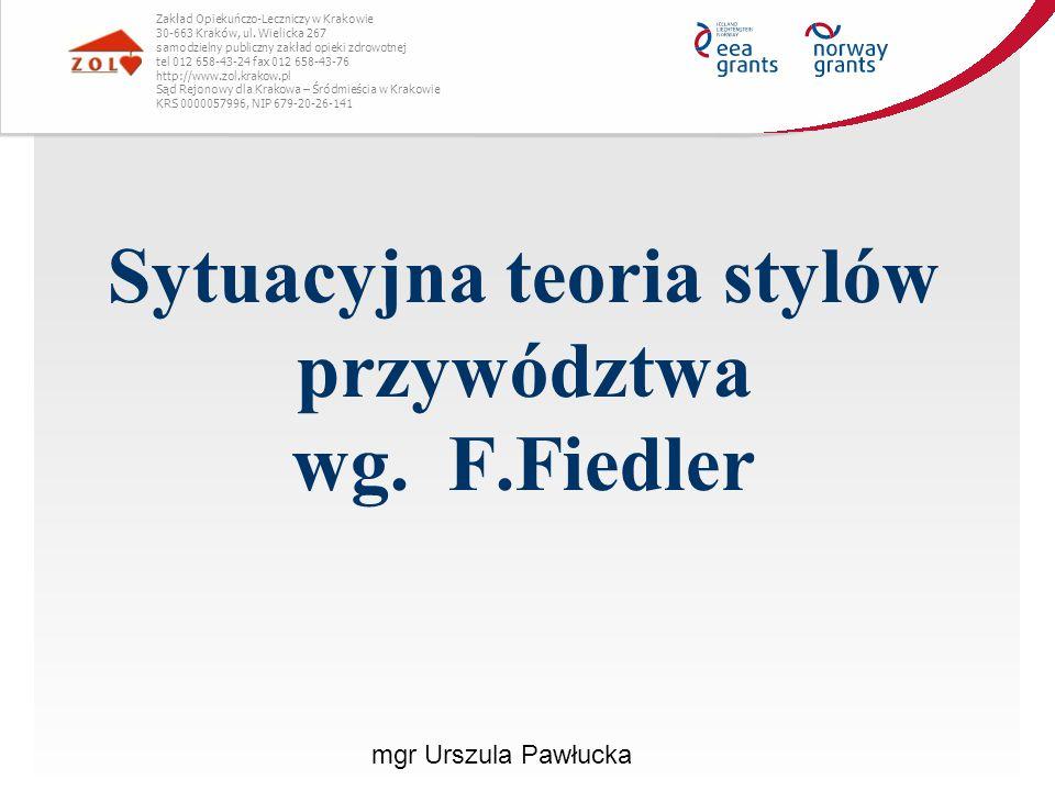 Sytuacyjna teoria stylów przywództwa wg. F.Fiedler