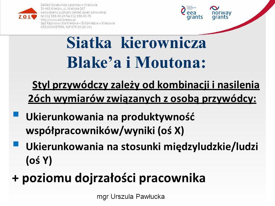Siatka kierownicza Blake'a i Moutona:
