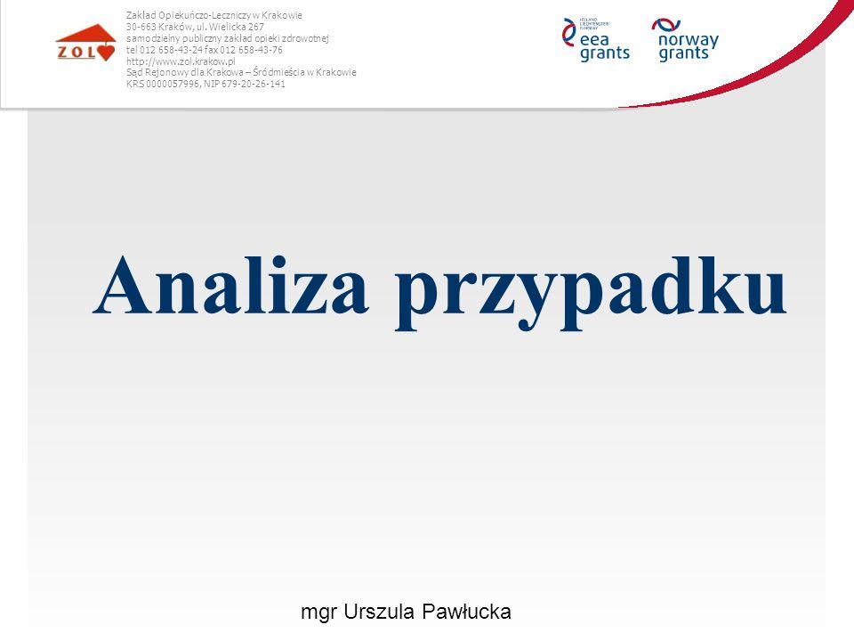 Analiza przypadku mgr Urszula Pawłucka