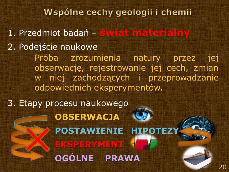 Wspólne cechy geologii i chemii
