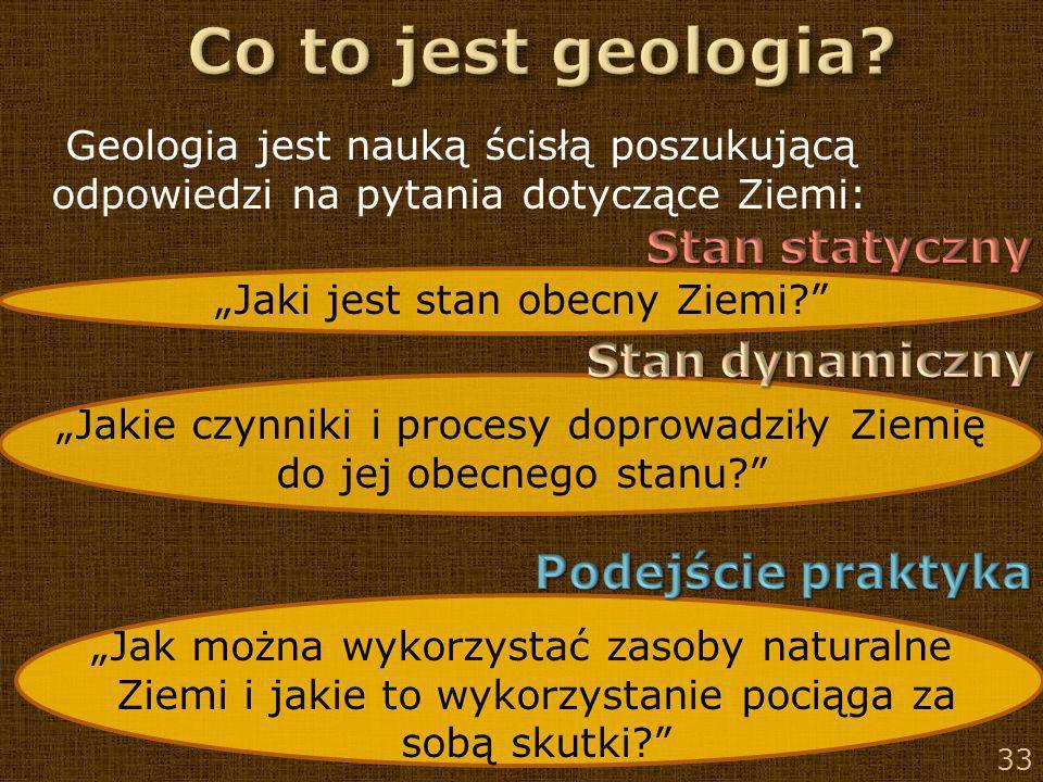 Co to jest geologia Stan statyczny Stan dynamiczny Podejście praktyka