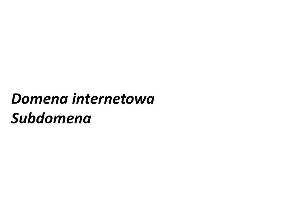 Domena internetowa Subdomena