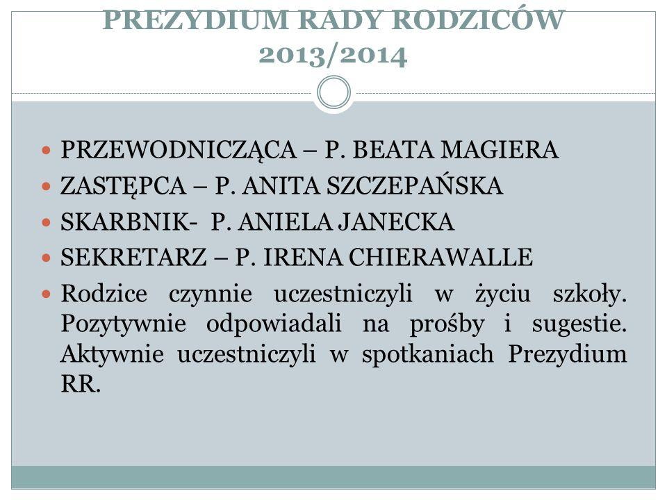 PREZYDIUM RADY RODZICÓW 2013/2014