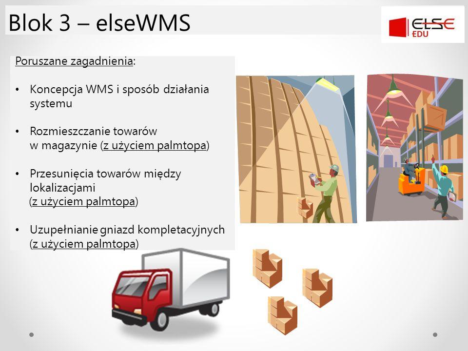 Blok 3 – elseWMS Poruszane zagadnienia: