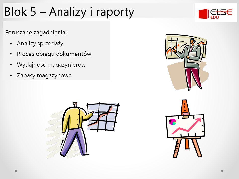 Blok 5 – Analizy i raporty