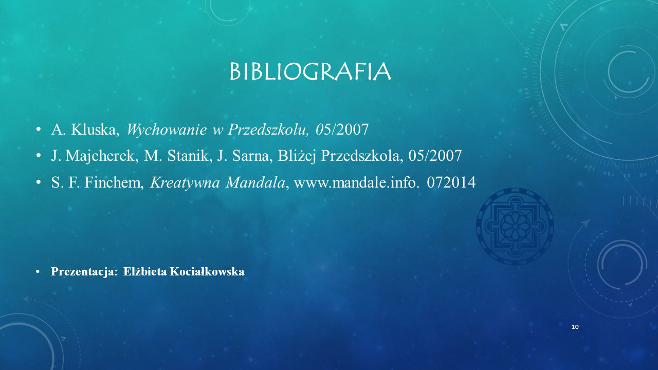 Bibliografia A. Kluska, Wychowanie w Przedszkolu, 05/2007