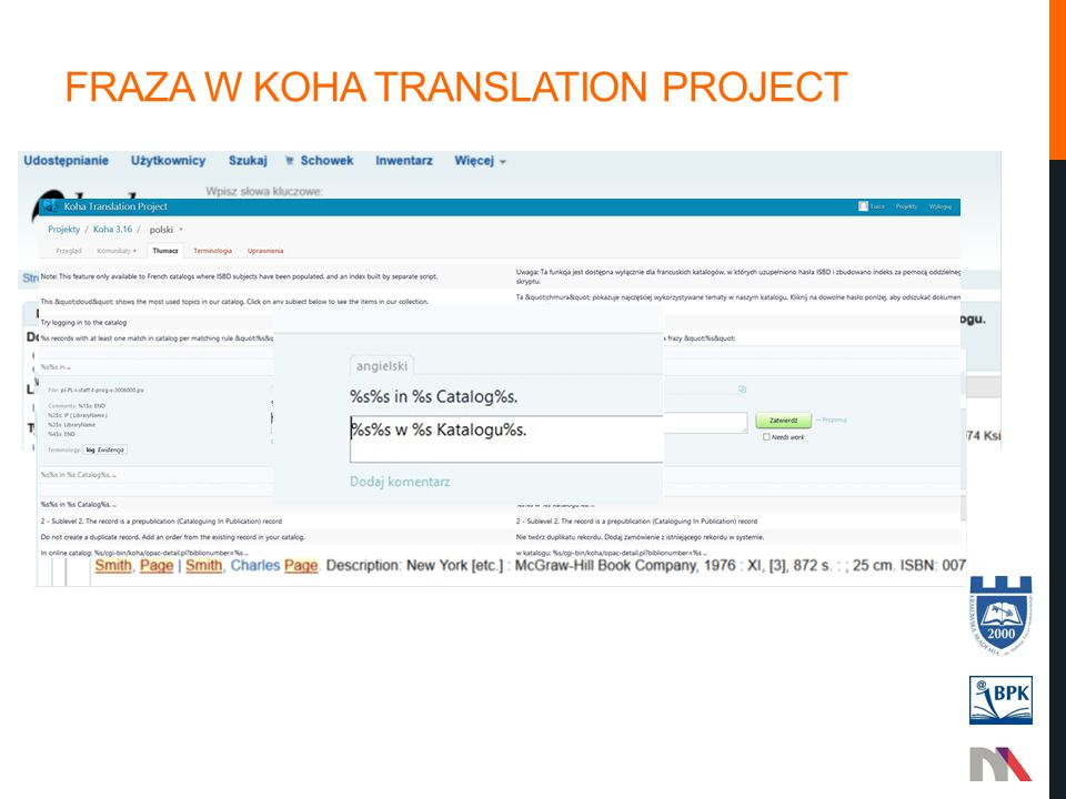 Fraza w koha translation project