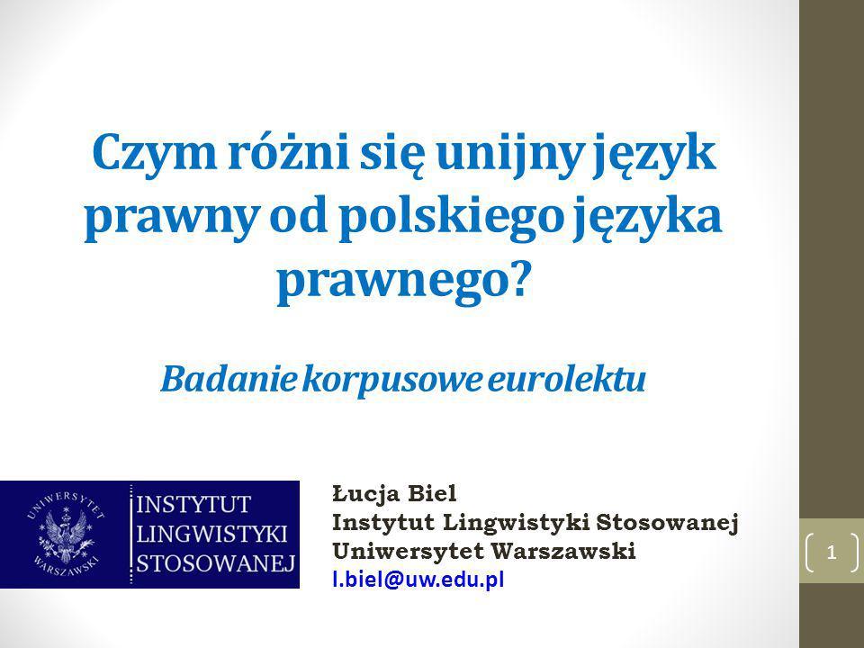 Czym różni się unijny język prawny od polskiego języka prawnego