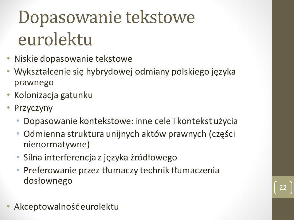 Dopasowanie tekstowe eurolektu