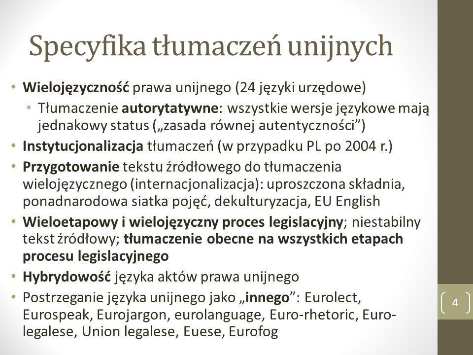 Specyfika tłumaczeń unijnych