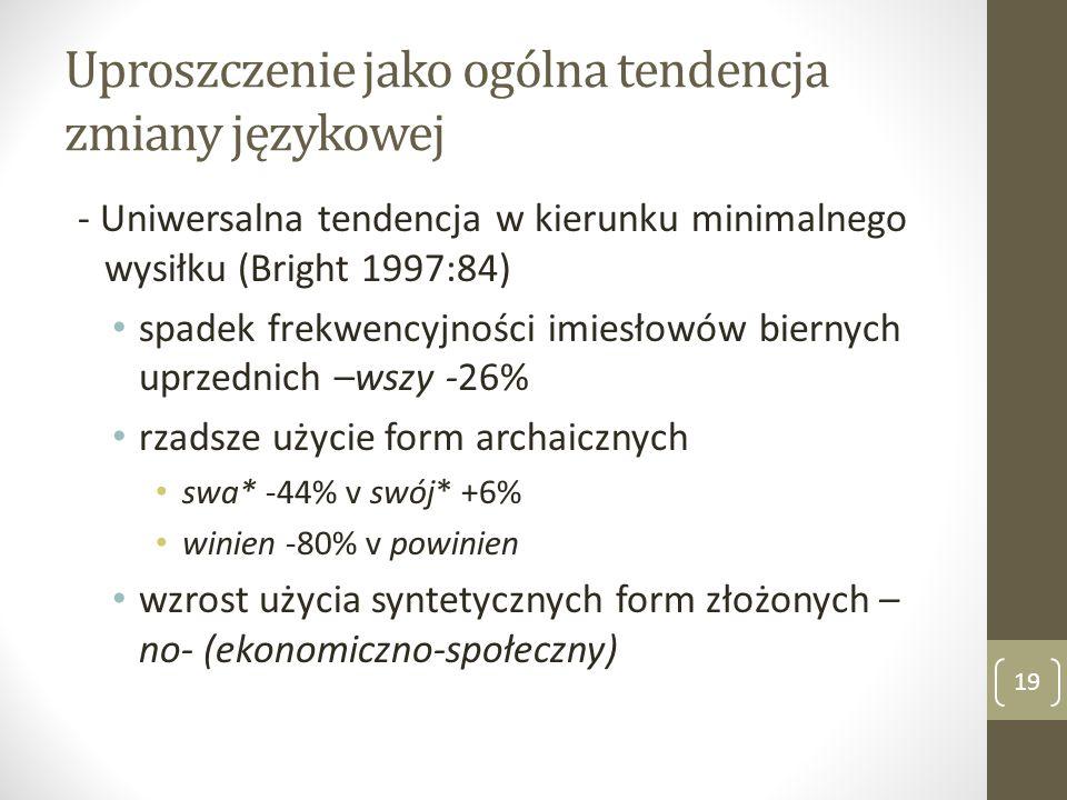 Uproszczenie jako ogólna tendencja zmiany językowej