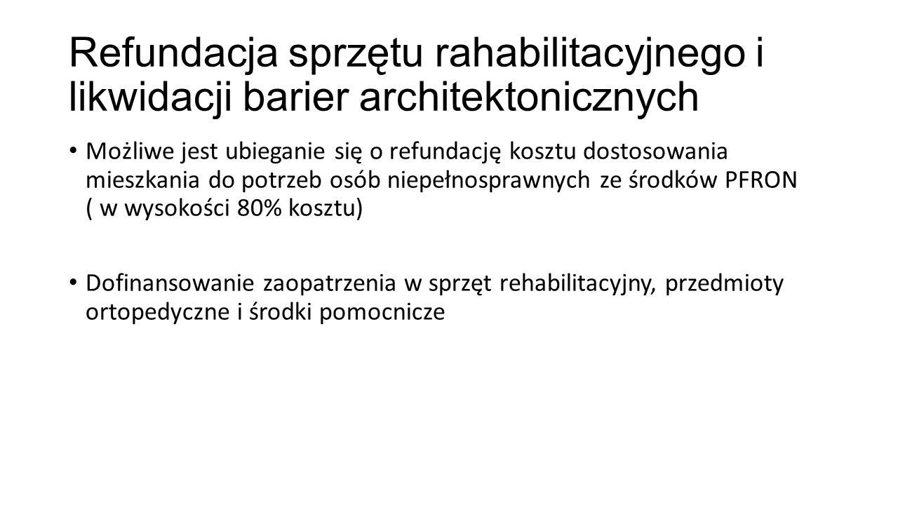 Refundacja sprzętu rahabilitacyjnego i likwidacji barier architektonicznych