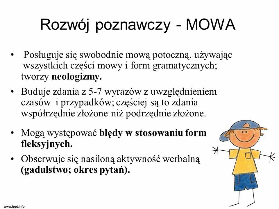 Rozwój poznawczy - MOWA