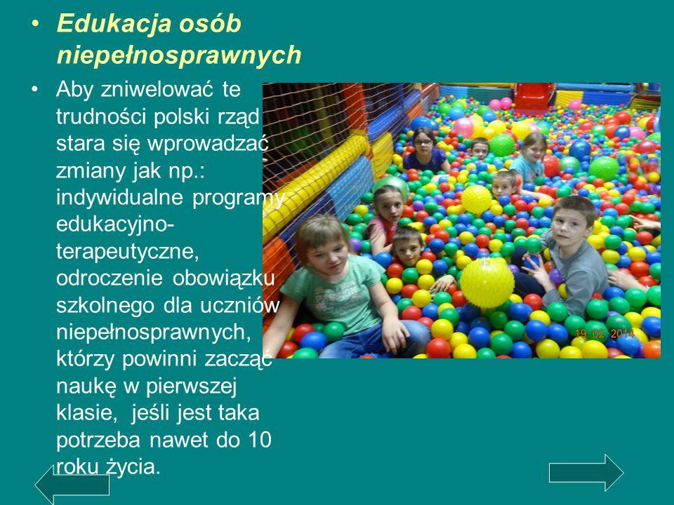 Edukacja osób niepełnosprawnych