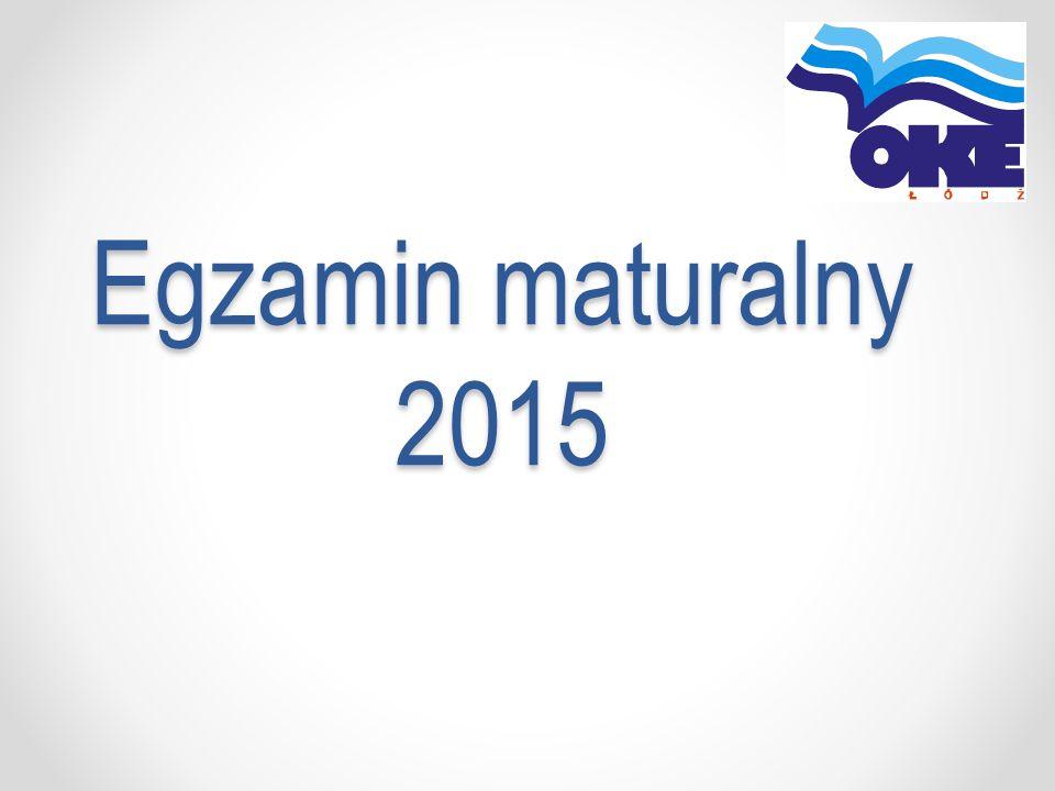 Egzamin maturalny 2015