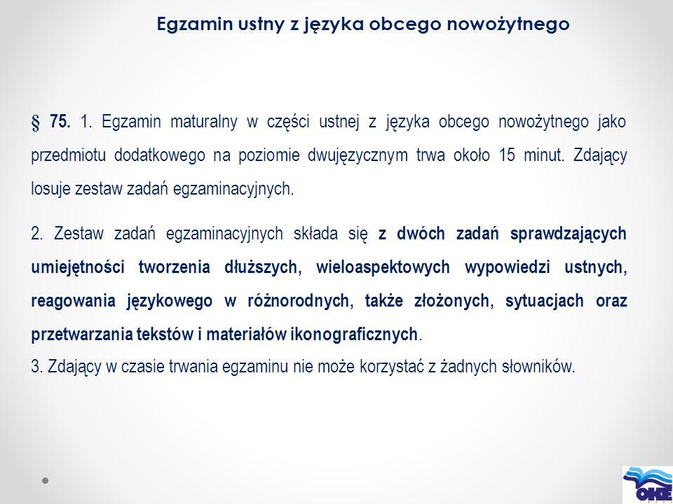 Egzamin ustny z języka obcego nowożytnego