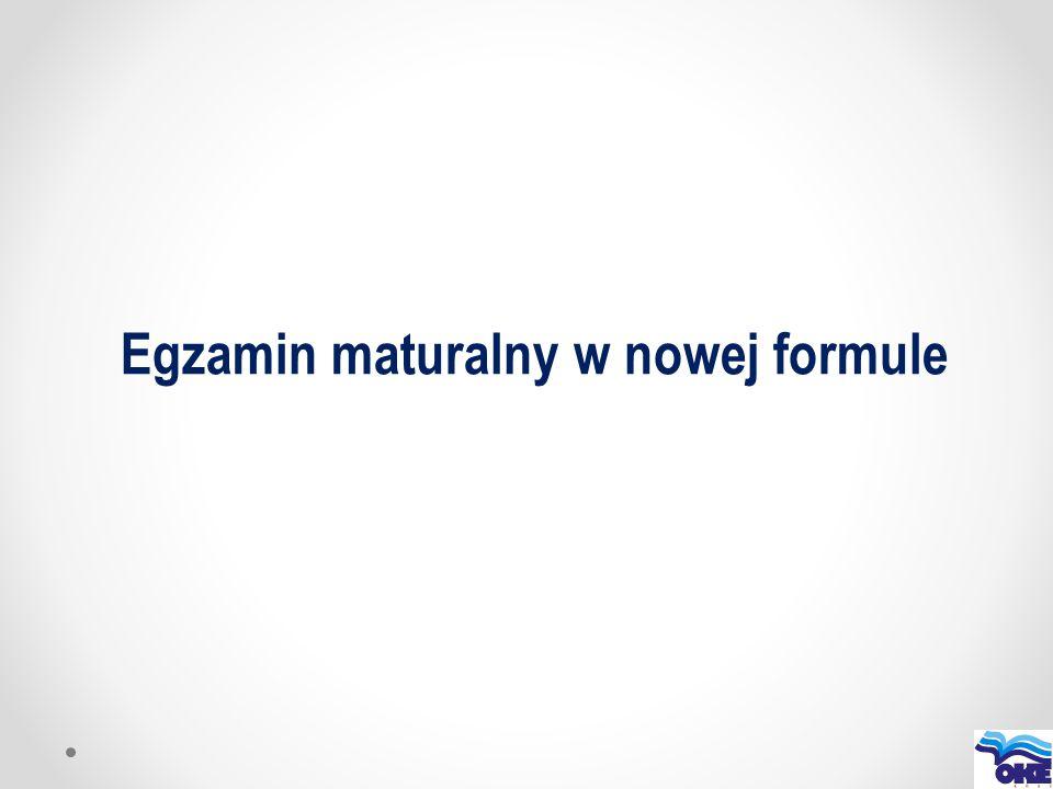 Egzamin maturalny w nowej formule