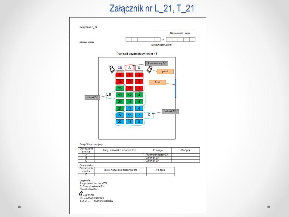Załącznik nr L_21, T_21
