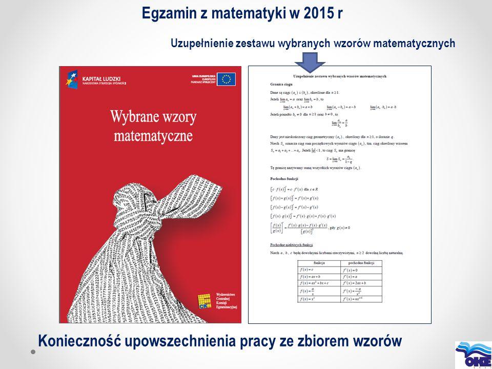 Egzamin z matematyki w 2015 r
