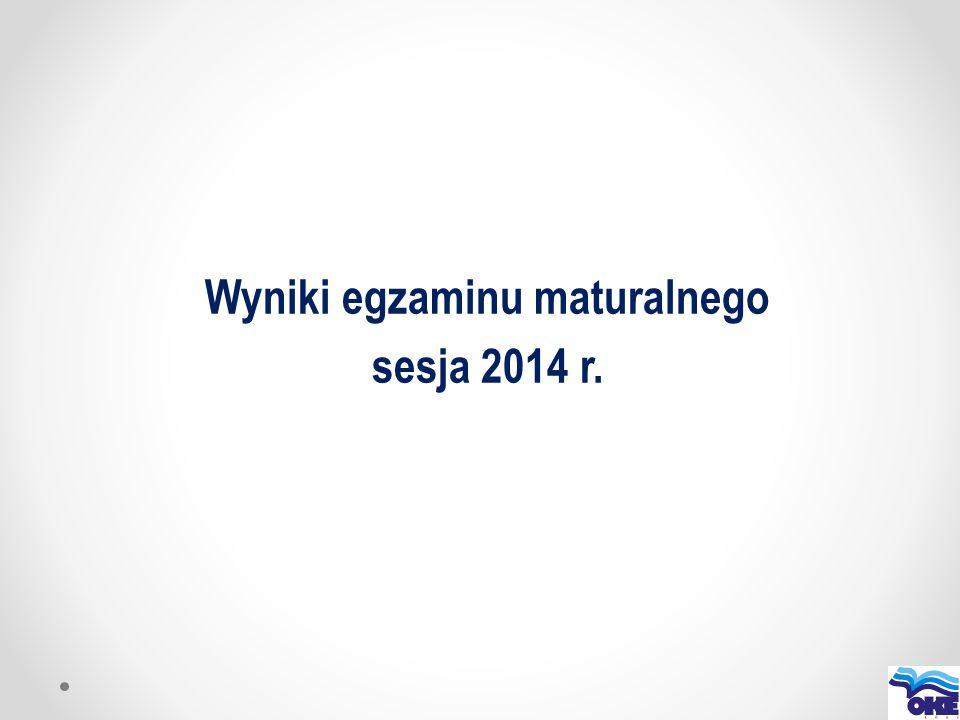 Wyniki egzaminu maturalnego sesja 2014 r.