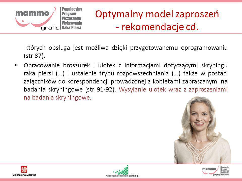 Optymalny model zaproszeń - rekomendacje cd.
