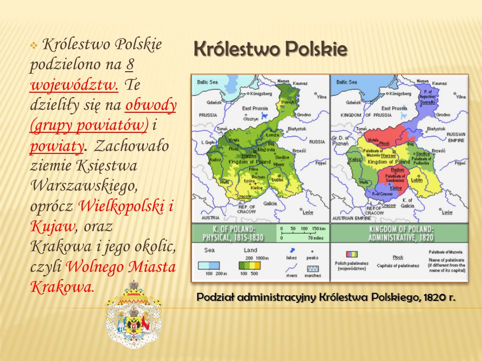 Królestwo Polskie podzielono na 8 województw