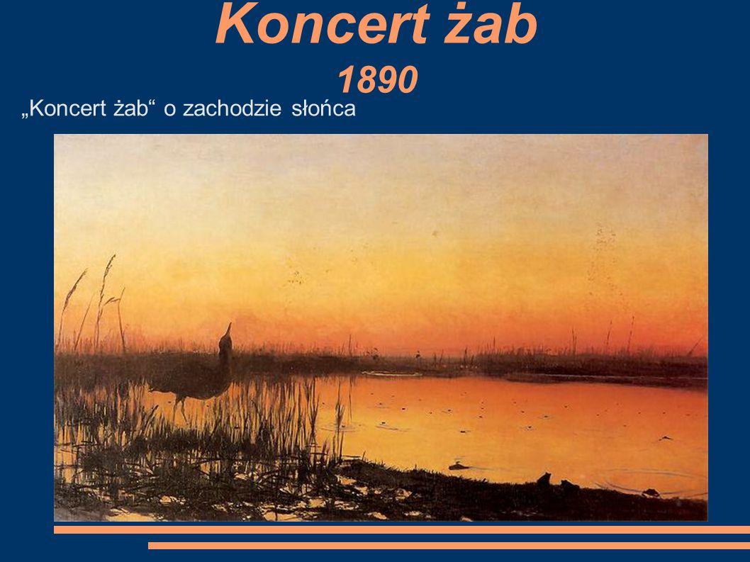 """Koncert żab 1890 """"Koncert żab o zachodzie słońca"""