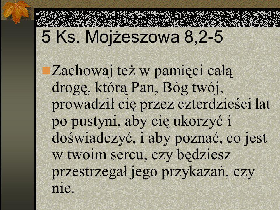 5 Ks. Mojżeszowa 8,2-5